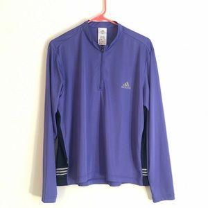 Adidas purple climawarm quarter zip pullover